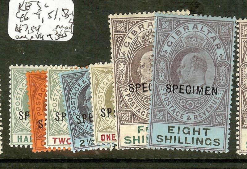 GIBRALTAR (P0208B)  KE SG46-9, 51, 53-4S  SPECIMEN   MOG/MNG