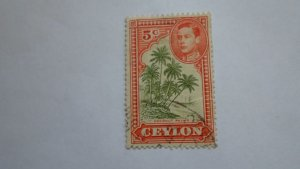 STAMP OF CEYLON USED HINGED SC # 292