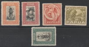 PAPUA 1932 PICTORIAL RANGE TO 5D