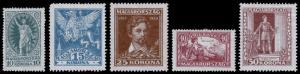 Hungary Scott B72-B76 (1923) Mint H F-VF Complete Set, CV $5.00
