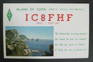 5881 Amateur Radio QSL Card Island of Capri