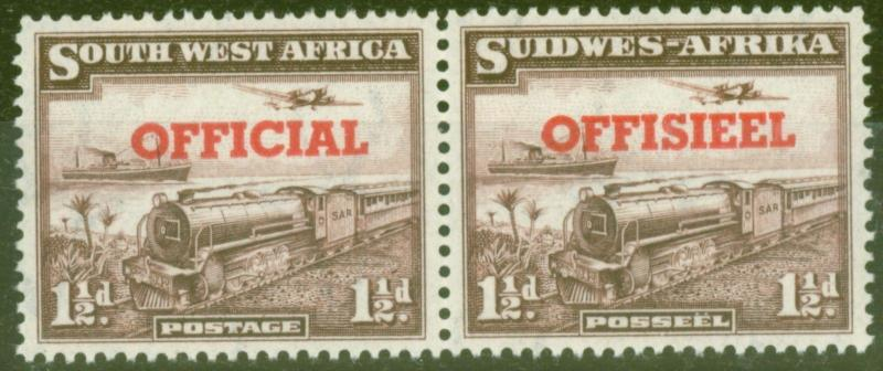 S.W.A 1951 1 1/2d Purple-Brown SG025 Fine Very Lightly Mtd Mint