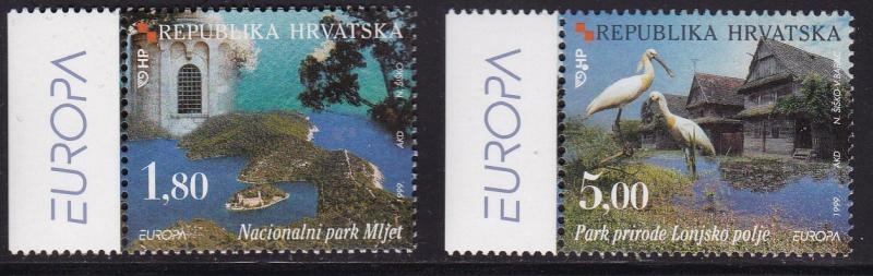 Croatia 1999 National Parks Europa  VF/NH