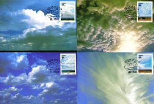 Ciskei - 1992 Cloud Formations Maxi Card Set SG 206-209
