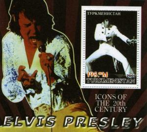 Turkmenistan 2001 Elvis Presley s/s Perforated mnh.vf