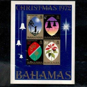 BAHAMAS #342a  1972  CHRISTMAS     MINT VF NH  O.G  S/S