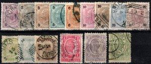 Austria #70-85 Used  CV $33.15 (X1059)
