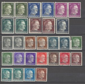 COLLECTION LOT # 4275 GERMANY OCCUPATION IN RUSSIA 29 MH STAMPS 1941+
