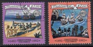 MONTSERRAT SG911/2 1991 ORGANIZATION OF EAST CARIBBEAN STATES FINE USED