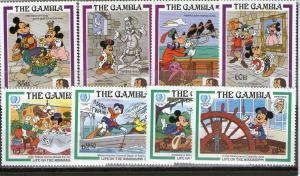 Gambia 560-567 MNH