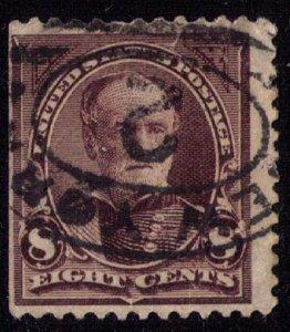 US Sc 257 Used 8c Violet  Fine