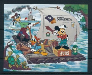 [22203] Dominica 1985 Disney 150th Birthday Mark Twain MNH