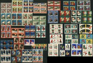 USA Christmas Seals Health Greetings Blocks Stamp Collection