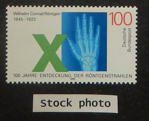 Germany 1885. 1995 W. K. Roentgen, physicist, NH
