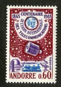 FRENCH ANDORRA 167 MH SCV $6.50 BIN $2.75 TELECOMMUNICATIONS