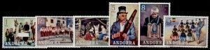 Andorra Fr 69-74 MNH St Anthony Singers, Christmas, Boys Choir