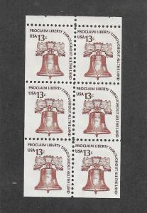 1595a MNH Booklet Pane, Free Insured Shipping
