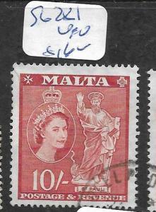 MALTA (P1406B)  QEII 10/-  SG 281  VFU