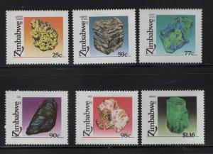 ZIMBABWE, 676-681, SET (6), MNH, 1993, MINERALS