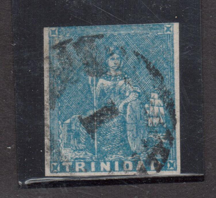 Trinidad #12 Used Fine Artfully Repaired UL Corner **With Certificate**