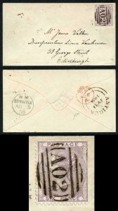 ANTIGUA Z5 1858 6d on Lovely Cover to Scotland