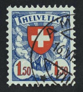 01880 Switzerland Scott #202a, 1.50 Franc used, CDS, grilled gum, fresh color!