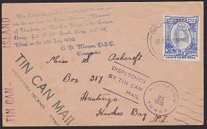 TONGA 1936 Tin Can Mail cover - SS Monowai..................................5340
