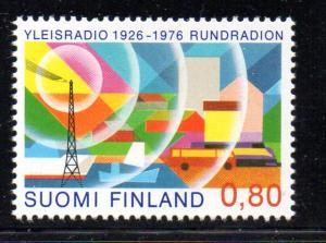 Finland Sc 588 1976 Radio & Television stamp NH