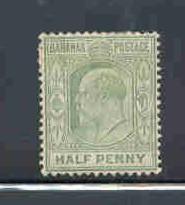 Bahamas Sc 44 1906 1/2d E VII stamp mint