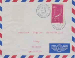 Guadeloupe France 18F Victor Schoelcher 1957 Pointe-A-Pitre, Guadeloupe Airma...
