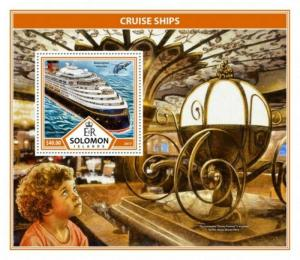 Solomon Islands - 2017 Cruise Ships - Stamp Souvenir Sheet - SLM17308b