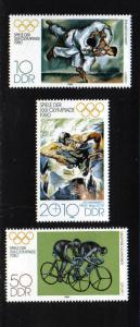 Germany DDR  1980 MNH Olympics Moscow 2nd series complete