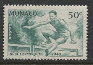 Monaco - Scott 204 - London Olympics -1948 - MLH - Single 50c Stamp