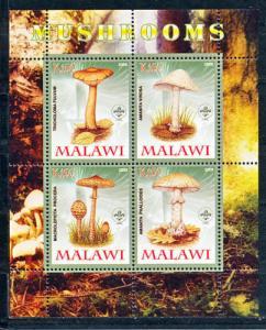 Malawi 2008 M/S Poisonous Mushrooms Plant Nature Flora Fungi Stamps (2) MNH perf