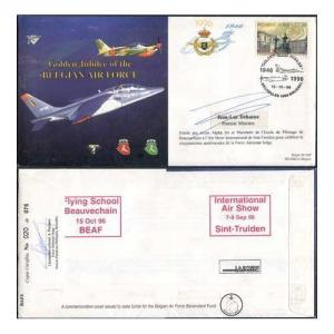 JS(CC)20d Golden Jubilee of the Belgian Air Force Signed by Jean-Luc Dehaene (B)
