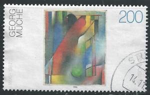 Germany #1923 200pf Abstract For Wilhelm Runge by Georg Muche
