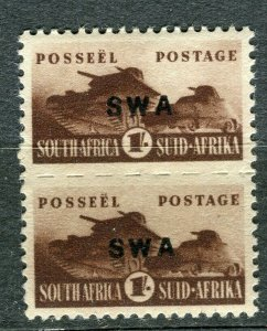SOUTH WEST AFRICA; 1941 early Small War Effort issue 1s. Mint pair