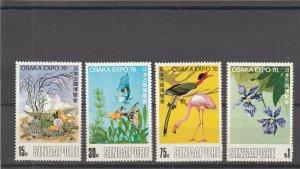 Singapore  Scott#  112-115  MH  (1970 Expo '70)