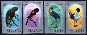 St Lucia. 1976. 380-84 of the series. Birds, fauna. MNH.