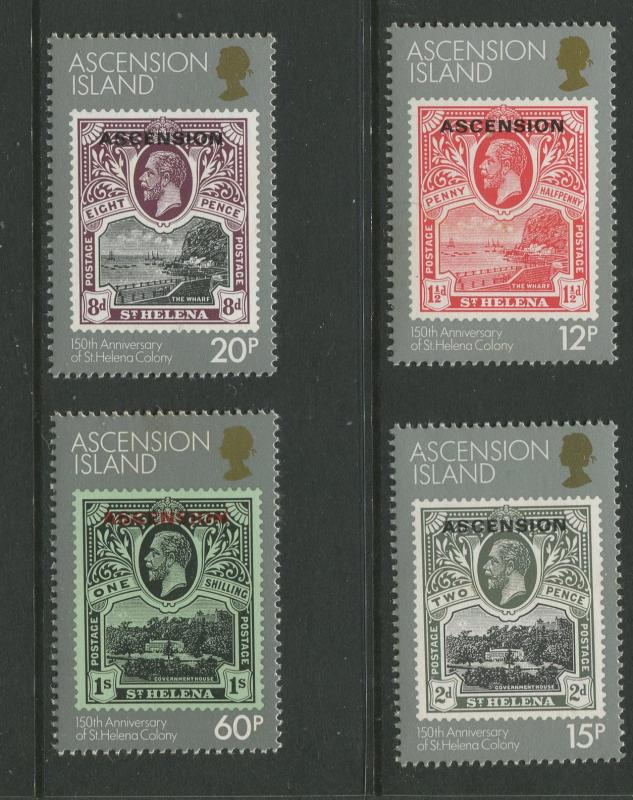 Ascension - Scott 345-348 - General Issue -1984 - MNH - Set of 4 Stamps