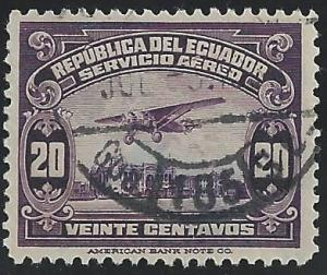 Ecuador #C11 20c Plane over River Guayas