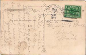 United States Washington Oak Point 1914 4b-bar  1851-1937  PC  2c Panama Paci...