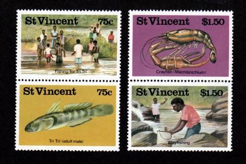 St. Vincent MNH 984-7 Fresh Water Fishing