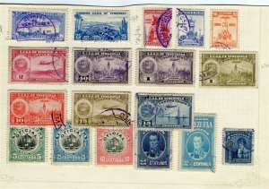 VENEZUELA; 1900s-1930s early classic issues small mixed USED LOT