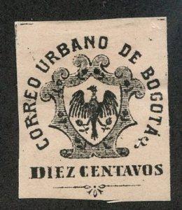 Colombia- City of Bogota, Scott #LX3, Unused, Hinged