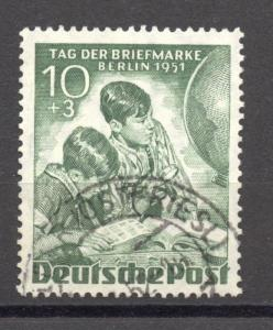 Berlin, 1950, Stamp Day, 10 + 5 Pf. VF ++ used , no faults,