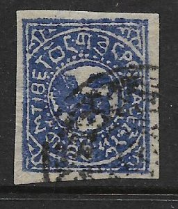 TIBET  2 USED 1912 ISSUE