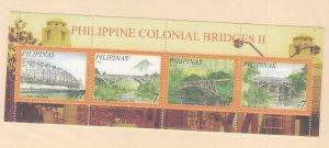 Philippines: Sc #3157, MNH, S/S, Colonial Bridges (S18903)
