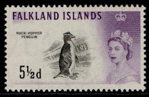 FALKLAND ISLANDS QEII SG199, 5½d black & violet, M MINT.