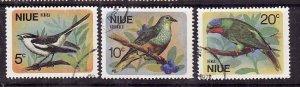 Niue-Sc#139-41- id5-used set-Birds-1971-